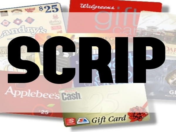 SCRIP Physical Gift Card Orders Due