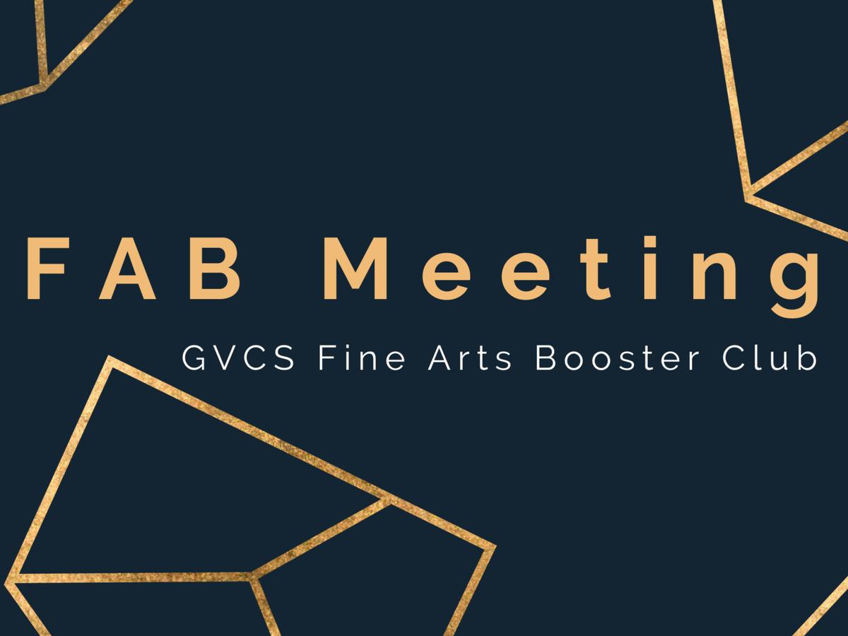 Fine Arts Booster Meeting- High School- Room 224