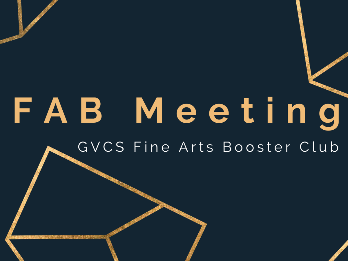 Fine Arts Booster Meeting- High School