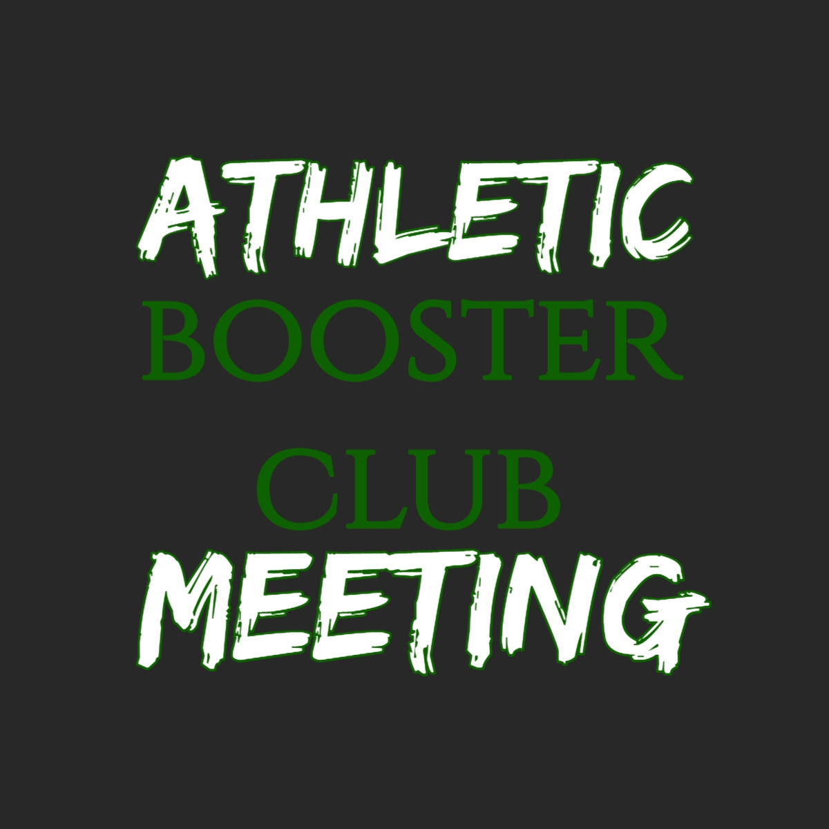 Athletic Booster Meeting- HS (Thunder conference room)