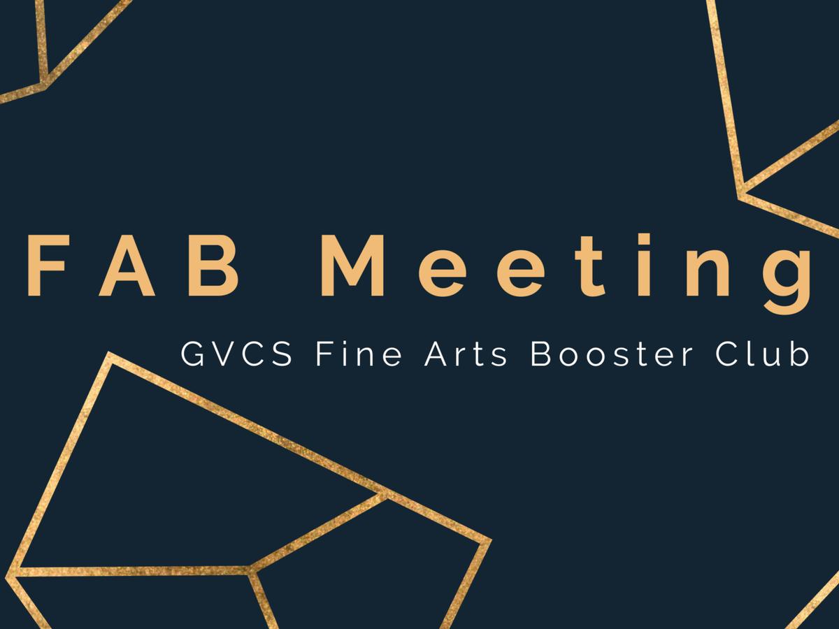 Fab- (Fine Arts Booster) Club Meeting- Library (High School)